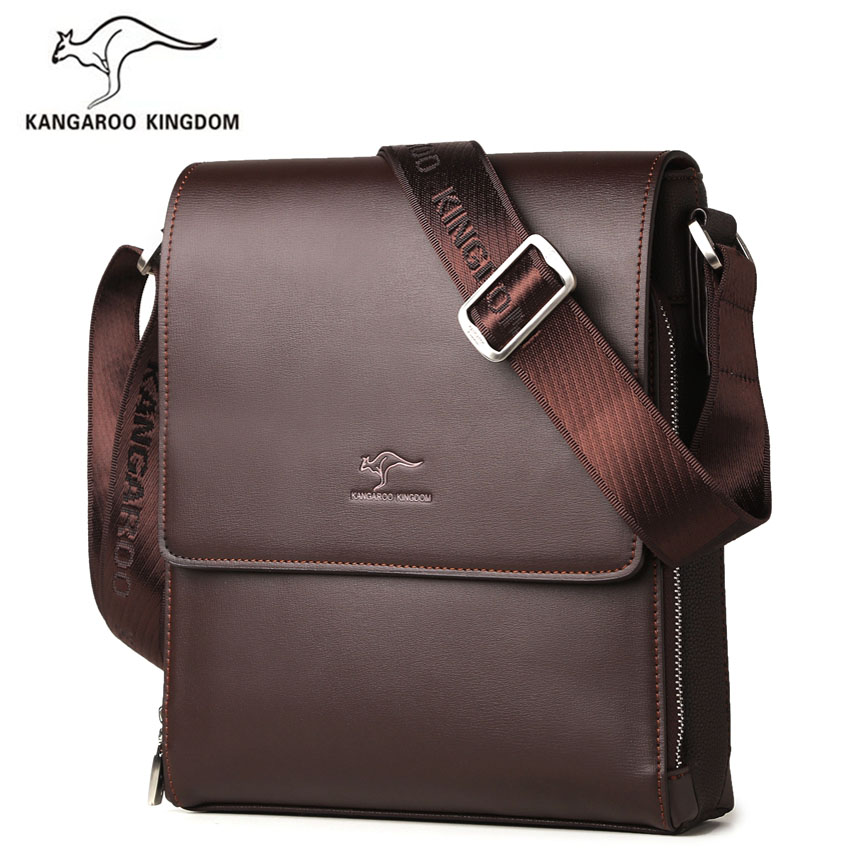 Kangaroo Kingdom Fashion Men Bag Split Leather Business Male Crossbody Shoulder Messenger Bags reccagni angelo подвесная люстра reccagni angelo l 4660 6 2