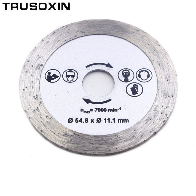 For Wood Metal Granite Marble Tile Brick Disc For Protable/DIY Cutting Tools Electrical Chain 54.8MM Diamonds Circular Saw