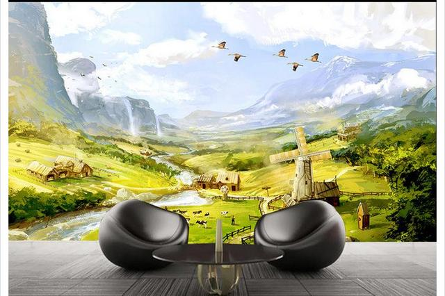 3d Wallpaper Custom Mural Beauty In European Landscape Hd Canvas Tv Setting Wall Adornment Non