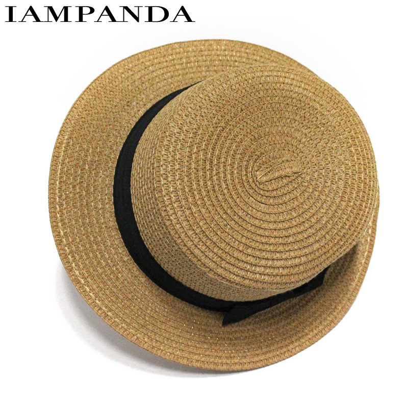 Iampanda Limited 2017 New Summer Sun Hats For Women Bow Hat Out Of The Straw Korean Version Outdoor Sunscreen Panaman Wholesale
