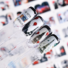 12 Styles Romantic Lady Red Beauty Nail Art Water Transfer Sticker Decoration Decals Tool Wraps Sexy Tattoo Manicure JIBN373 384