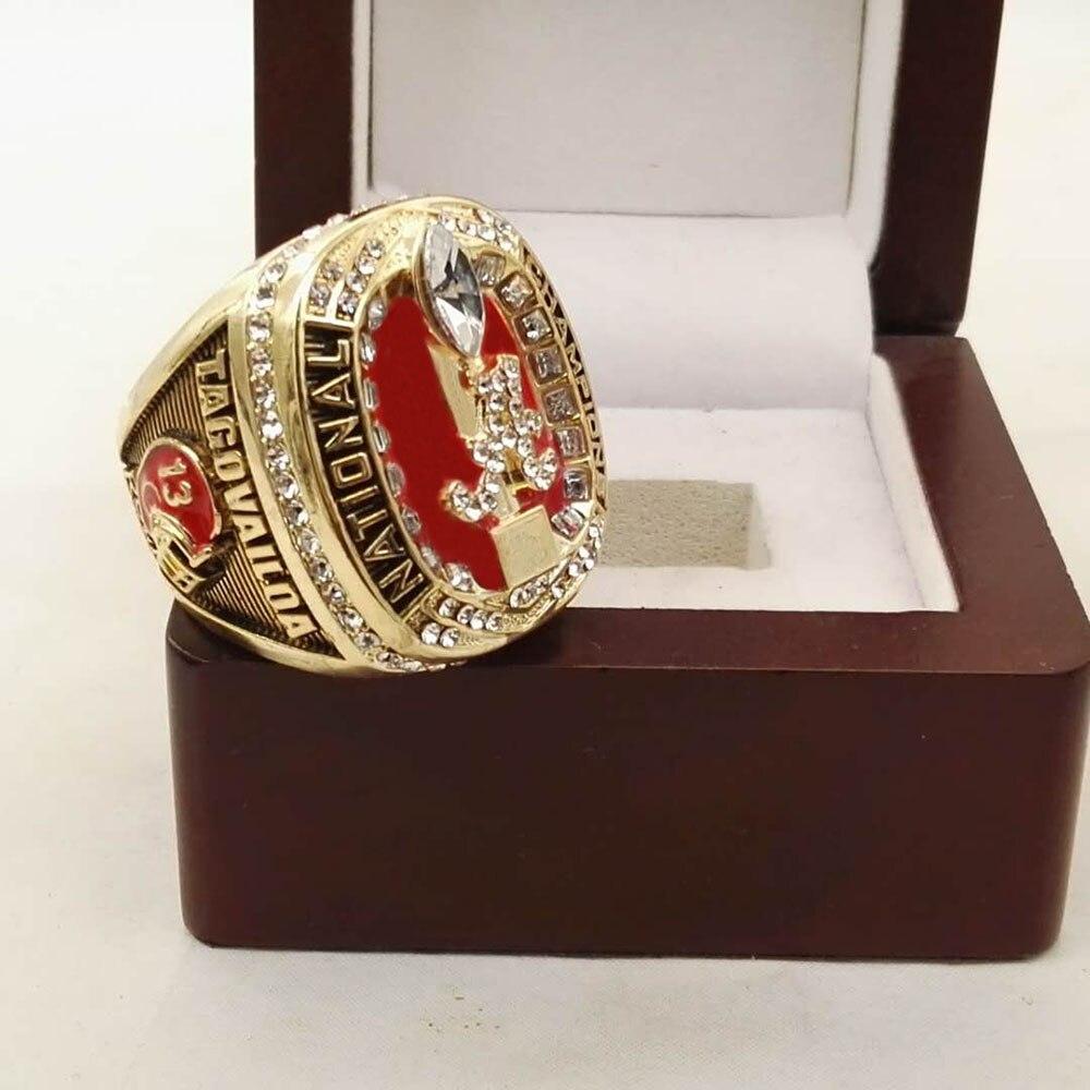 2017 Alabama Crimson Tide Collège National Championnat Anneau Size8-14 dropship