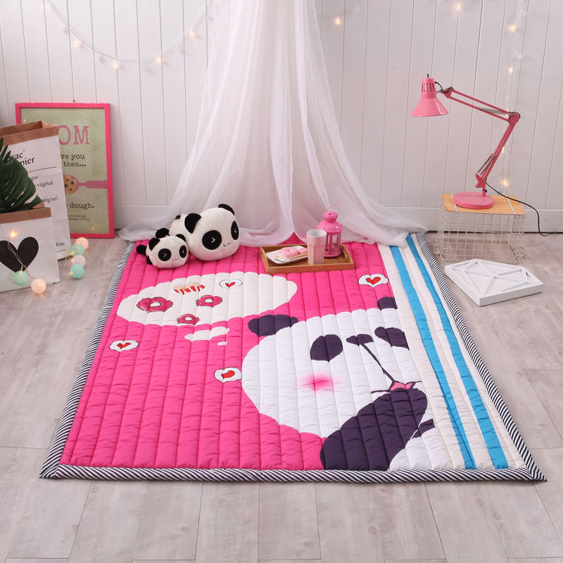 Grand tapis de jeu de bébé doux de bande dessinée enfants tapis tapis enfants chambre tapis de sol garçon fille tapis de jeu tapis d'activité de bébé pour les enfants - 5