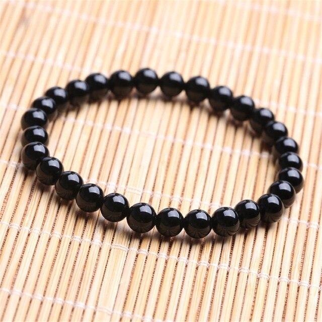 Купить браслет из черного турмалина диаметром 6 мм исцеляющие кристаллы