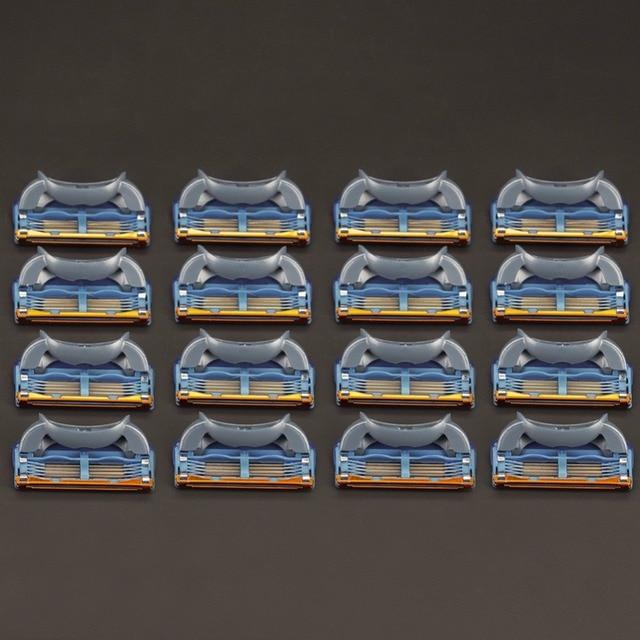 16 ピース/パック。男性かみそり高品質シェービングカセットフェイシャルケア男性シェービングブレードと互換性 gillettee fusione