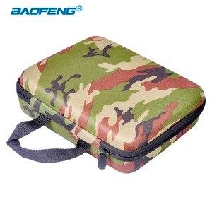 Image 2 - Baofeng UV 5R Walkie Talkie Camouflage Handbag UV 5R Radio Nylon Protect Portable Storage Case for 5RE 5RA Radio Accessories