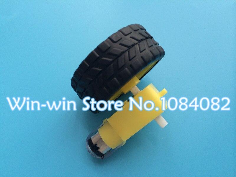 8 компл. 8 Лот = 16 шт. двигатель замедления постоянного тока+ опорное колесо, а/умный автомобиль шасси, двигатель/колёса для роботизированной машины