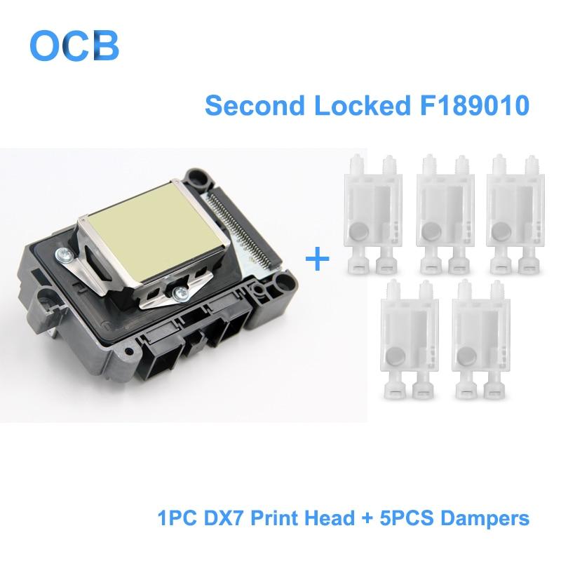 Новый F189010 второй заблокирован печатающая головка DX7 на основе растворителя УФ печатающей головки для Epson Stylus Pro B300 B310 B500 B510 B308 B508 B318 B518