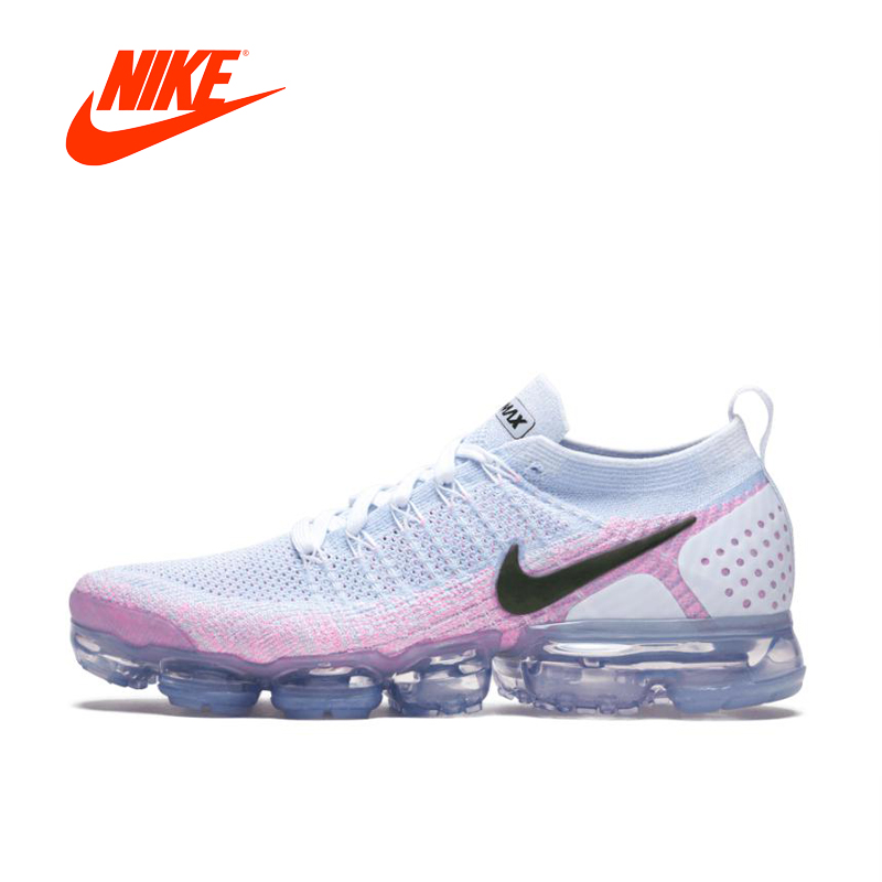Original New Arrival Authentic NIKE AIR VAPORMAX FLYKNIT 2 Women's Running Shoes Sport Outdoor Sneakers Good Quality 942843-102 цена