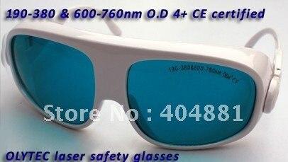 multi-wavelength laser protective glasses 190-380 & 600-760nm O.D 4+ CE certified high VLT% bluebird