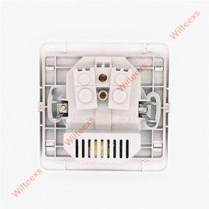 Image 2 - WILTEEXS Hot double Port USB 5V 2A chargeur mural électrique adaptateur prise ue interrupteur prise de courant Station daccueil chargeur panneau de prise
