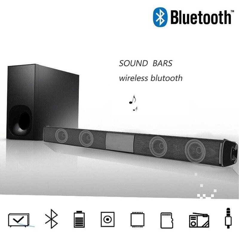 Nouvelle Mode Sans Fil Bluetooth Barre De Son Haut-Parleur TV Home Cinéma Barre De Son + Télécommande