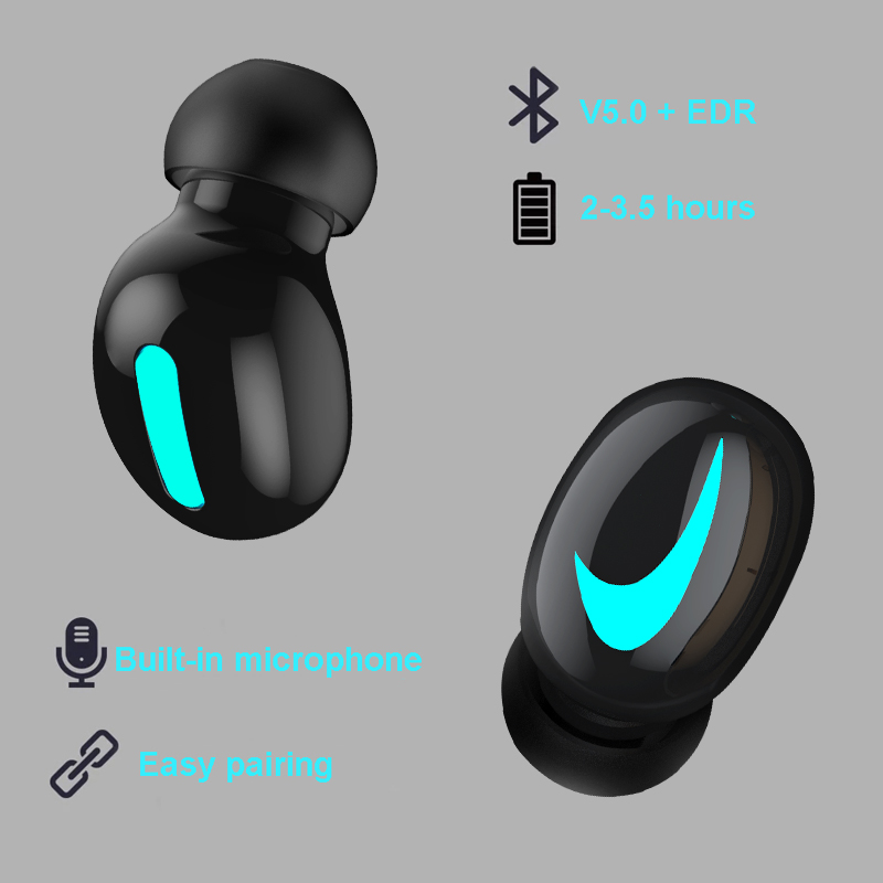 M&J TWS 5.0 Bluetooth headphone 3D stereo wireless earphone with mic IPX5 Waterproof Headset and power bank charging box 7