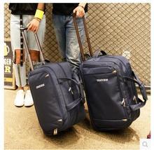 Erkekler Seyahat Bagaj Çantası kadın Oxford Bavul Seyahat Haddeleme Çanta Tekerlekler Üzerinde Seyahat Haddeleme Çanta Iş Arabası Tekerlekli Çanta
