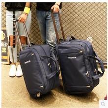 Men Travel Luggage Bag women Oxford Suitcase Travel Rolling