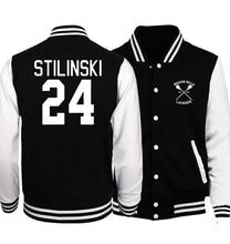 2017 весна новая мода куртка Волк Stilinski Stiles Подростка 24 печать мужчин и женщин хип-хоп толстовки дрейк уличная толстовка