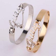 Ювелирные изделия любовь изысканный браслет аксессуар Стразы Декор Стильное кольцо с цепочкой на руку Прямая поставка