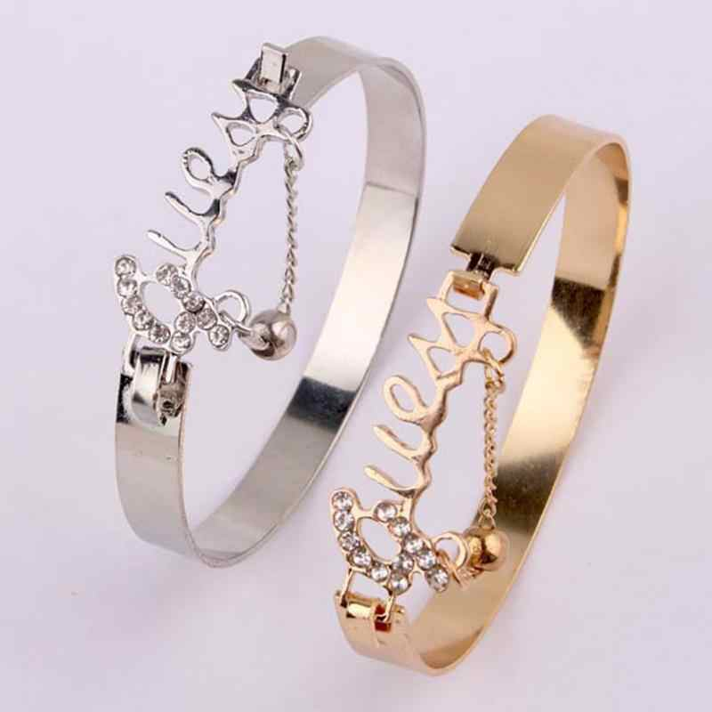 Fashion Jewelry Love Exquisite Bracelet Accessory Rhinestone Decor Stylish Hand Chain Ring Drop Shipping