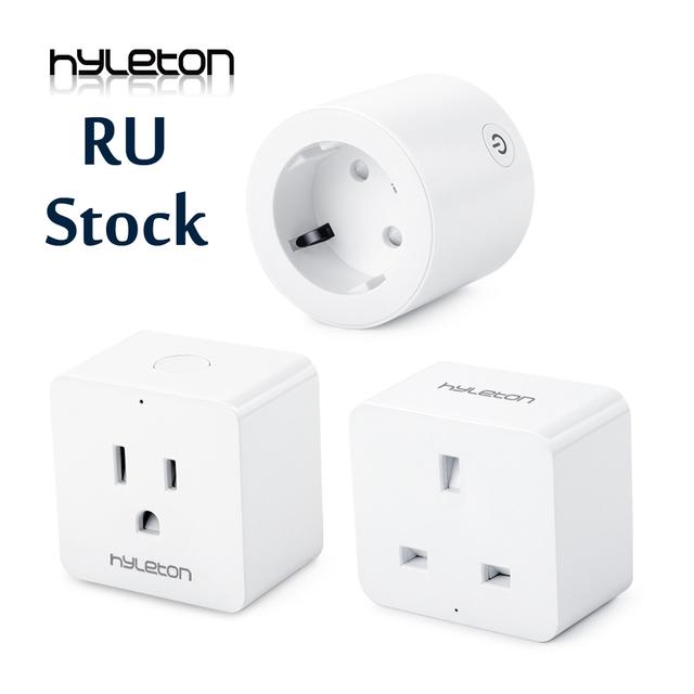 Hyleton smart plug 10A Home Automation wifi socket 100-240V Remote Control EU/US/AU Wifi Socket Working with Alexa and Google