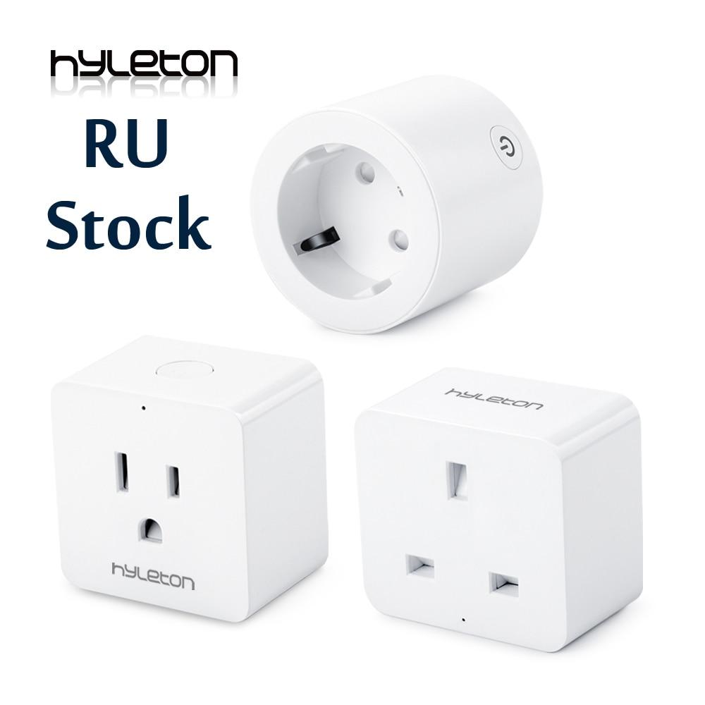 Hyleton smart stecker 10A Home Automation wifi buchse 100-240 v Fernbedienung EU/US/AU Wifi buchse Arbeits mit Alexa und Google