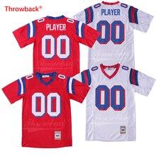 Reminiscência de Futebol Americano Jersey dos homens Personalizado Jersey  Algum Nome Qualquer Número Vermelho Branco Tamanho 2cb29619d694c