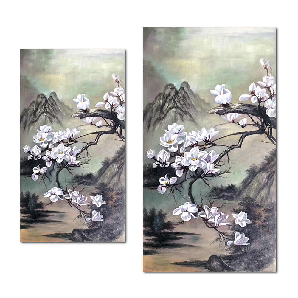 1 pc Modern Canvas Art Wall Decor Flower Picture Printed on Canvas Painting Floral Artwork for Home Bedroom Decoration
