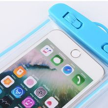 19x10.5cm Universal Luminous Waterproof Pouch Underwater Transparent Cellphone Dry Bag Portable Phone Case With Neck Strap цена 2017