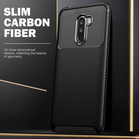 brand new 32122 c253f Carbon Fiber Texture Soft TPU Case For Xiaomi Pocophone F1 360 Full Back  Cover For Xiaomi Poco F1 Case New Luxury Slim Cover