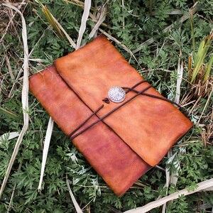 Image 3 - Junetree ของแท้หนัง Handmade A6 A5 B5 VINTAGE Retro Travel Journal สมุดบันทึก Notepad ของขวัญวันวาเลนไทน์