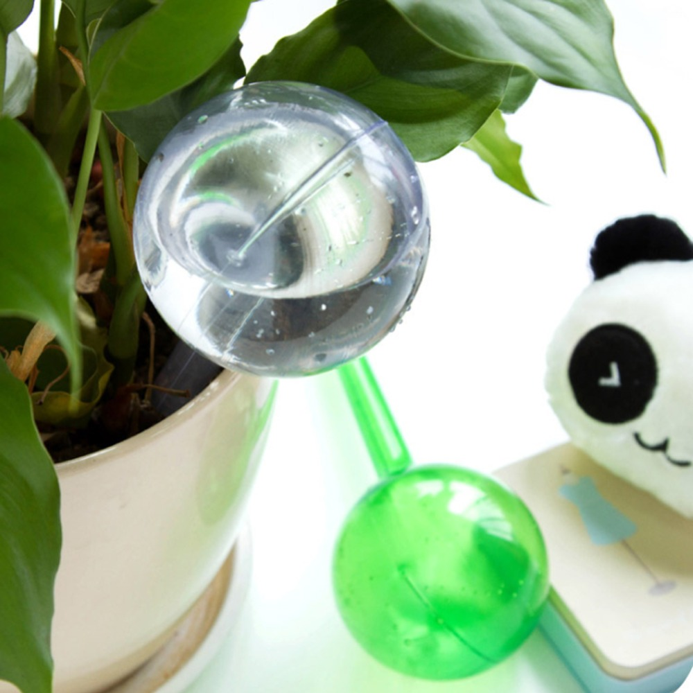 Image 5 - Plant Self Watering Bulb Shape Waterer PVC Automatic Watering Device Garden Pot Planter Cans Lazy Watering Dripper 1 Pc-in Plant Cages & Supports from Home & Garden