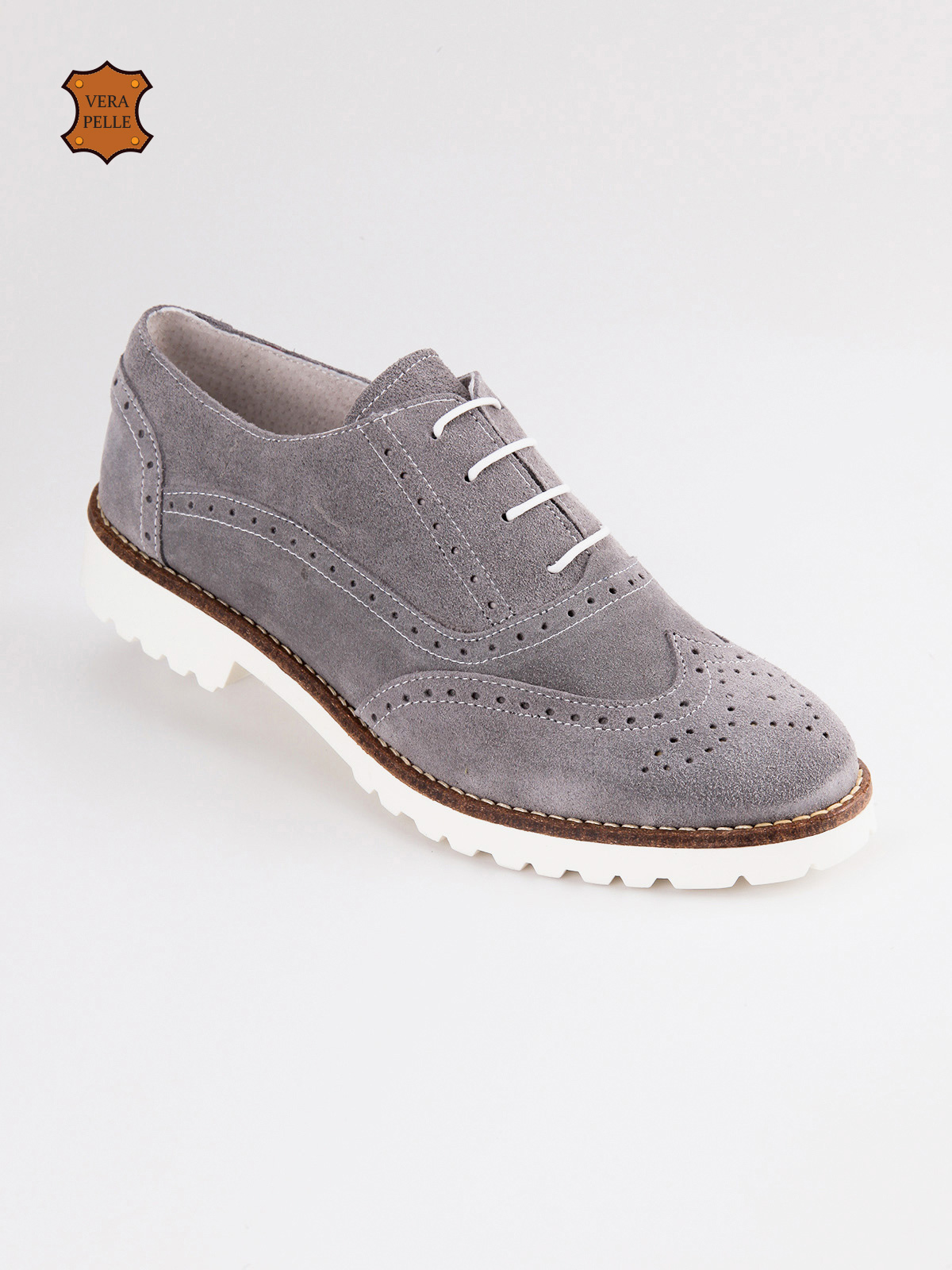 MISTER ANGEL Brogues GENUINE LEATHER SUEDE Lace-up