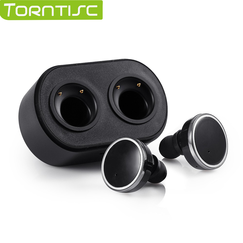 Torntisc Bluetooth 4.1 Wireless Stereo Earbuds In-ear Earphones For Apple IOS iPhone 7 Android Smart Phones