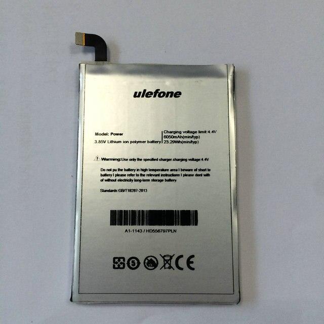 Original Ulefone Power li-on battery 6050mAh for Ulefone power Octa Core 4G 5.5 inch mobile phone+repair tools for gift