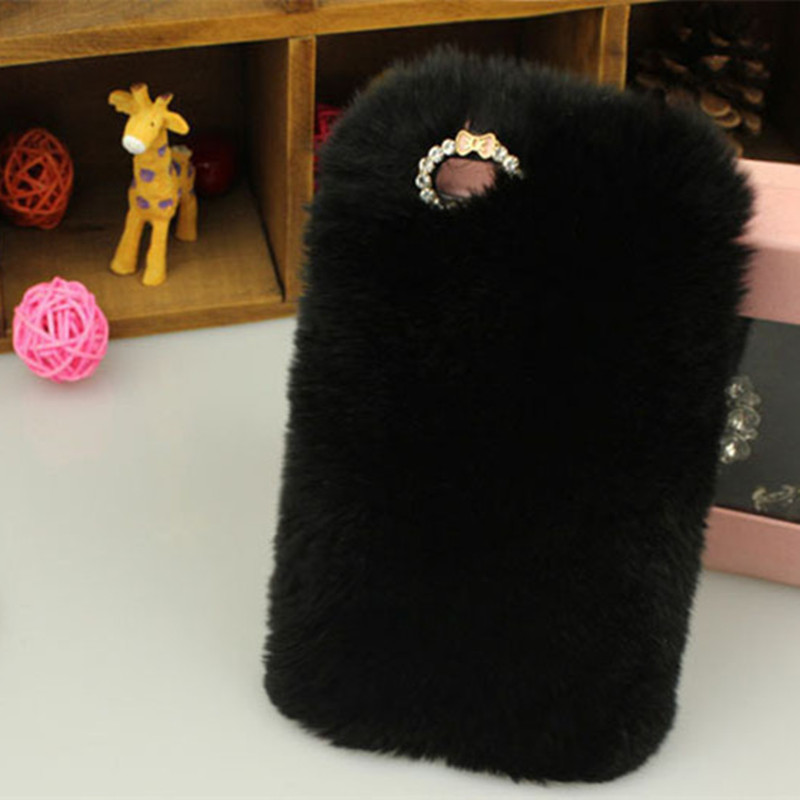 Ayeena Plush Hair Hard Back Cover case Warm Winter Fluffy