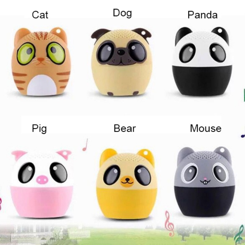 Animal Wireless Bluetooth Speaker With Powerful Rich Room Filling Sound 3W Audio Driver For Iphone Ipad Ipod Samsung Tablet