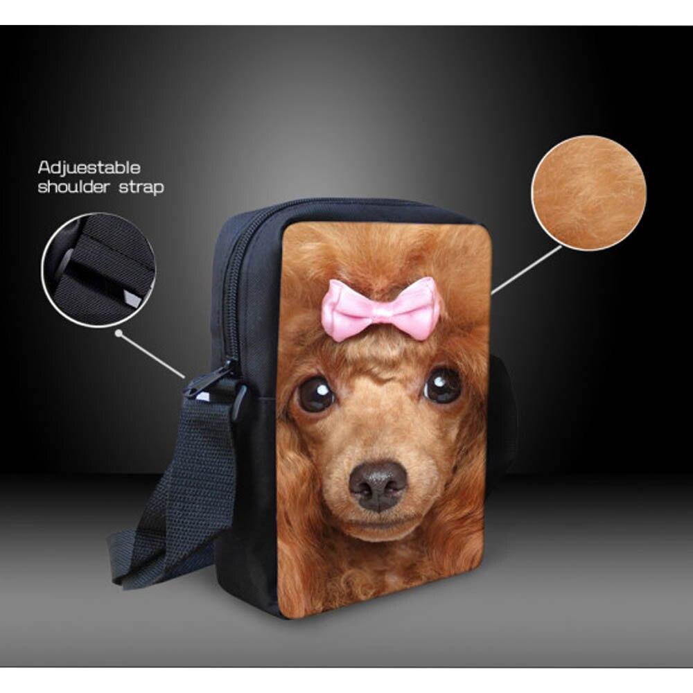 Forudesigns/3D Мопс собаки Школьные ранцы дети школьный Мини Книга сумка для девочек-подростков детский сад Mochilas Infantil