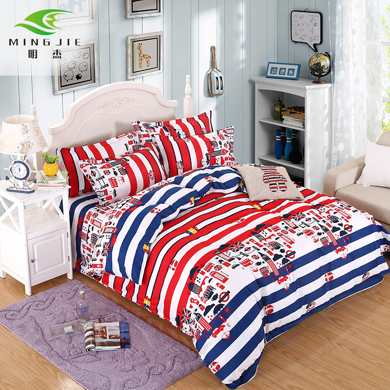 Colorful Reactive Print Bedding Sets Double Sided Pattern