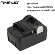 BSL1830 18V 4000mah Rechargeable Li-ion Battery Rechargeable 4.0ah Replacement Power Tool Battery For Hitachi BSL1840 BSL1815 цена и фото