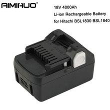 BSL1830 18V 4000mah Rechargeable Li-ion Battery Rechargeable 4.0ah Replacement Power Tool Battery For Hitachi BSL1840 BSL1815 цена в Москве и Питере