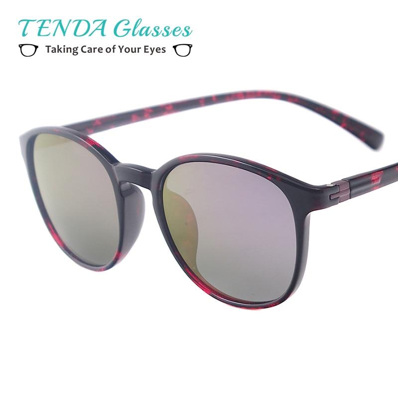 Mulheres Redondas Do Vintage Óculos Polarizados Óculos de Sol Para Homens  Mulheres TR90 Leve Grau Lente de Prescrição d2db8eade3