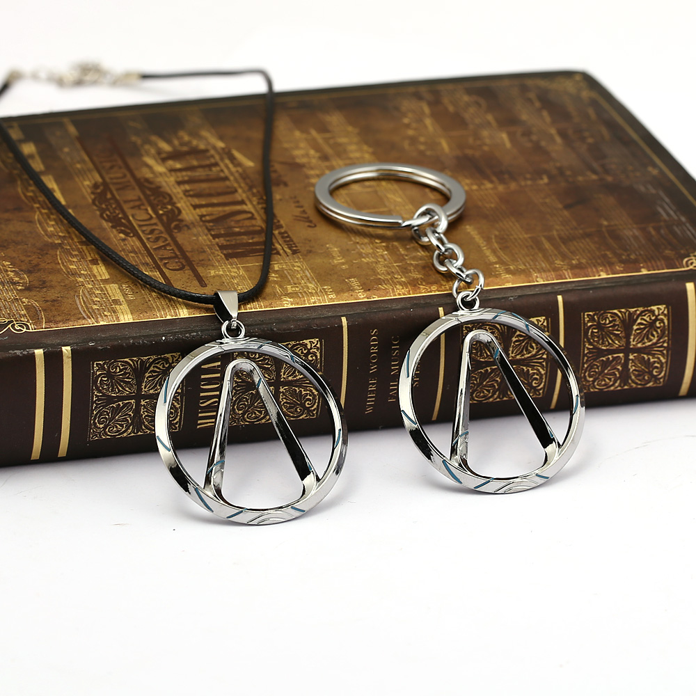 Borderlands Keychain Necklace Pendant Metal Choker Rope Chain Key Chain Kids Gift Jewelry