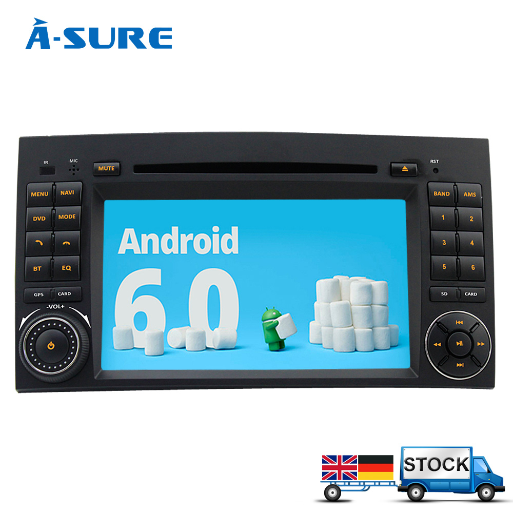 a sure dab android 6 0 dvd gps radio player for mercedes. Black Bedroom Furniture Sets. Home Design Ideas