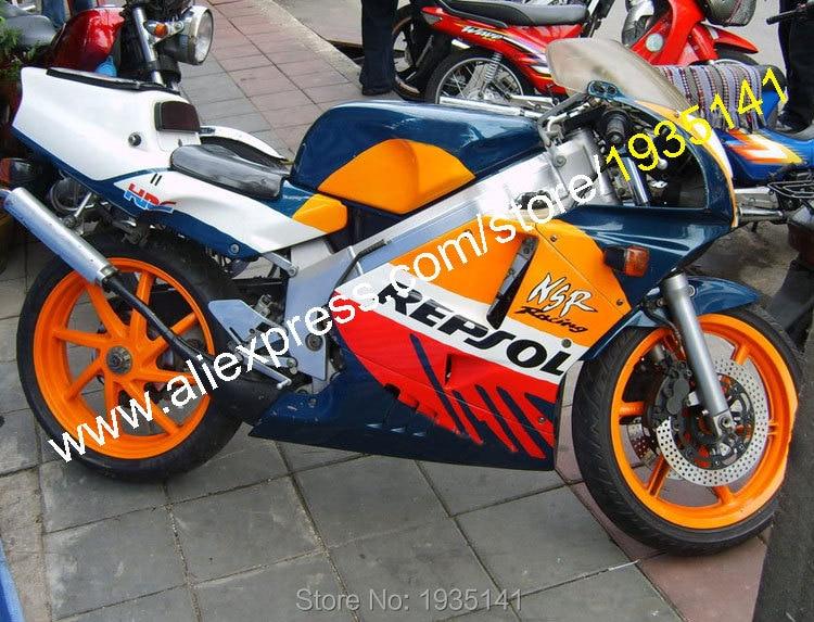 Hot Sales,For Honda NSR250R MC 21 1990 1991 1992 1993 NSR 250 R 90 91 92 93 Repsol ABS Motorcycle Fairing (Injection molding)