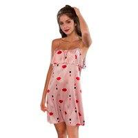 Women's sexy pajamas underwear temptation strap nightdress Ladies sexy sleeping evening dress sleeveless V neck pajamas7.2 0.5
