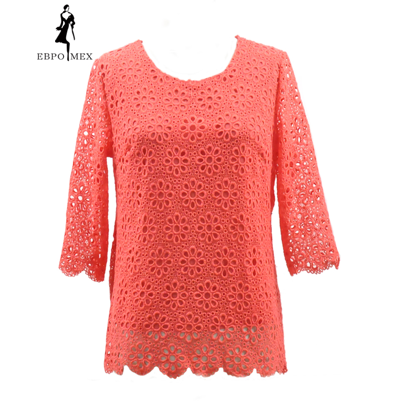 Spring Beautiful Pattern Cotton T Shirt Large Size Women