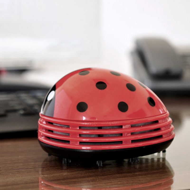 High Quality Mini Vacuum Cleaner Ladybug Desktop Coffee Table Vacuum Brush  Cleaner Dust Collector For Home