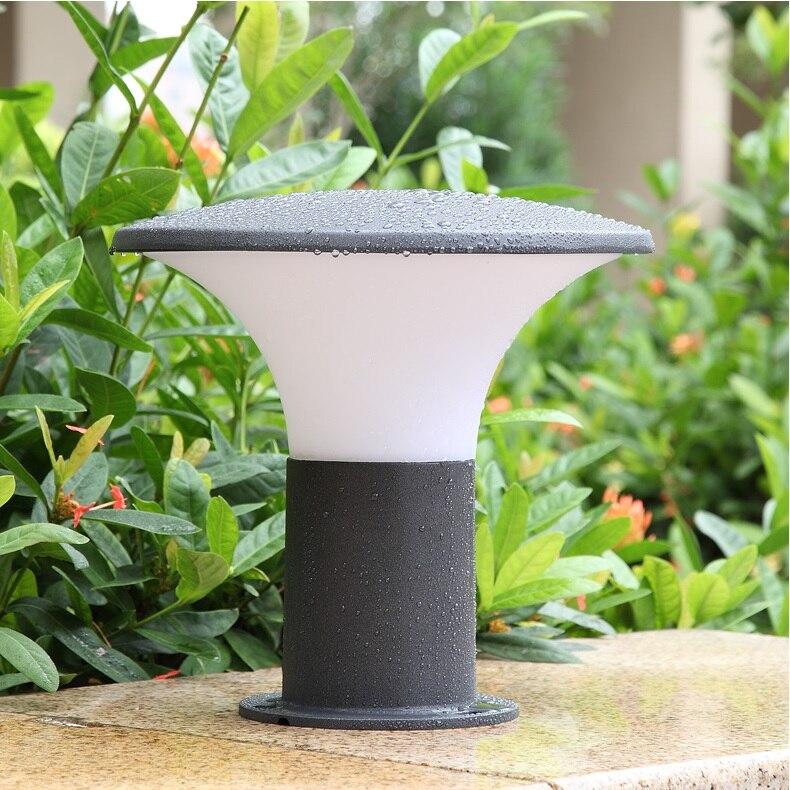 חיצוני פטריות אורות/אטים לגשם אלומיניום דיור/LED בולארד הודעה אורות עם E27 שקע