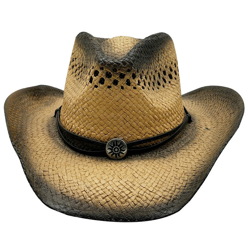 Western Cowboy Hats Mens Summer Straw Women Cowgirl Crimping Hat Chapeau Casquette Sombrero Hombre Men