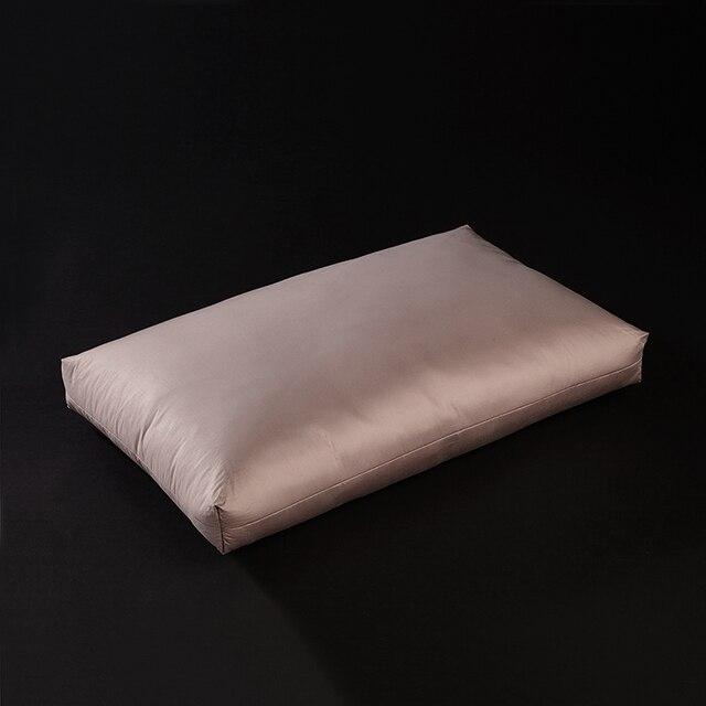 solide couleur hotel 3d style oreillers 48x74 cm coton tissu duvet d oie plumes remplissage
