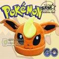 Дети Pokemon Идти Форма Hat Sylveon Eevee Umbreon Jolteon Мальчики Девочки Glaceon Пикачу Hat Плюшевые Шапки Береты Хэллоуин Косплей